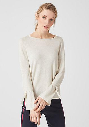 Fijngebreide trui met kasjmier