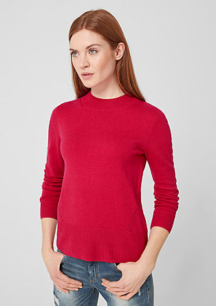High-Neck-Pullover aus Feinstrick