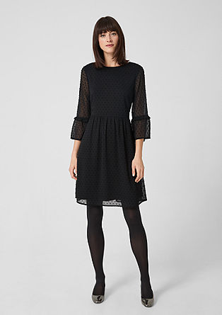 Plumetis dress with flounce sleeves from s.Oliver