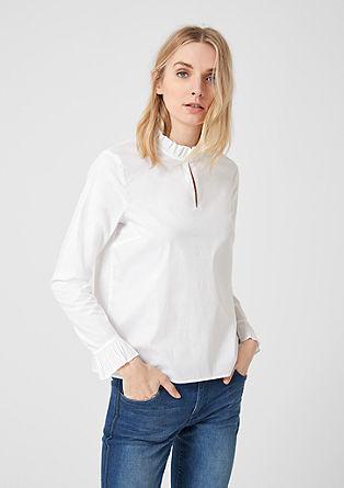 High-Neck-Bluse mit Rüschen