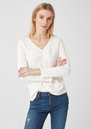 Feminines Slub Yarn-Shirt