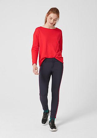 Sweatshirt mit Rollkanten