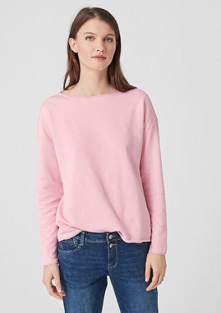 Sweatshirt met rolrandjes