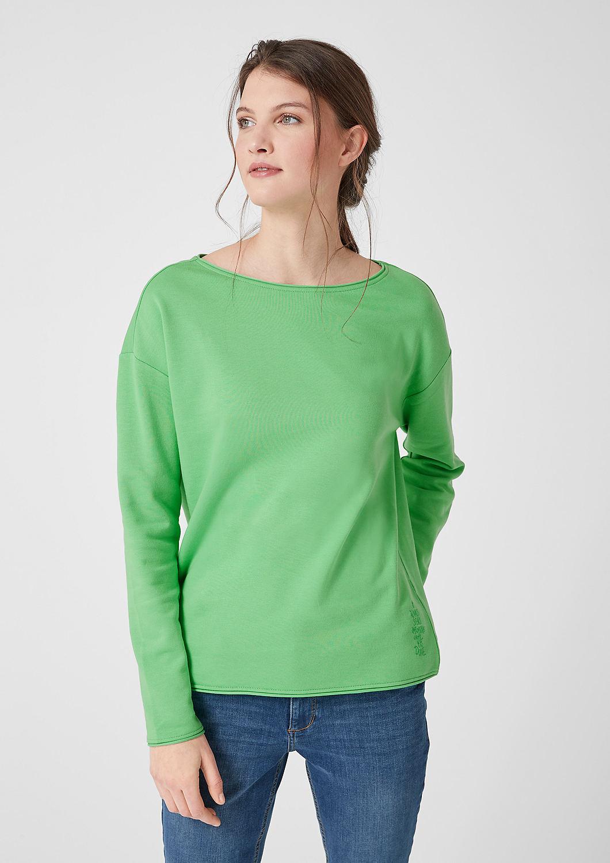 s.Oliver - Sweatshirt mit Rollkanten - 1