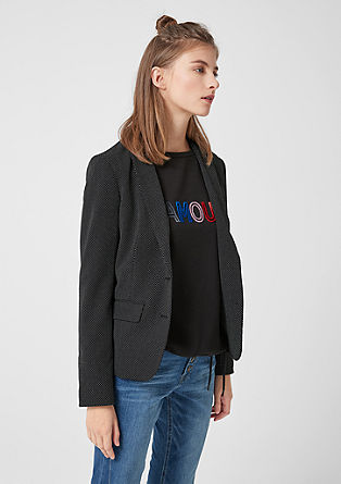 Jacquard blazer with a polka dot pattern from s.Oliver
