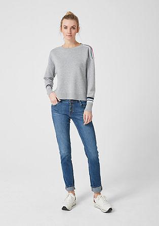 Trend-Pullover mit Streifen-Tapes