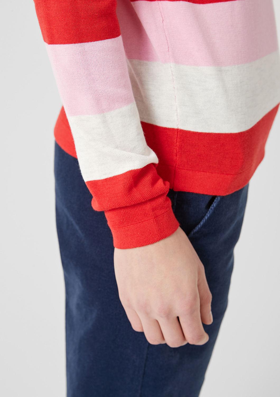 s.Oliver - Leichter Pullover mit Blockstreifen - 6