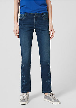 Shape Slim: Jeans with floral details from s.Oliver