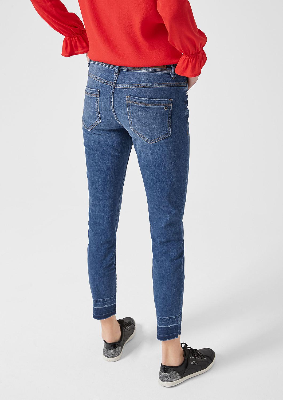s.Oliver - Shape Ankle: Jeans mit Used Details - 2