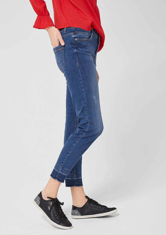 s.Oliver - Shape Ankle: Jeans mit Used Details - 4