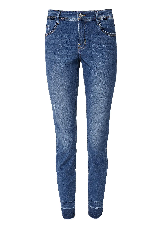 s.Oliver - Shape Ankle: Jeans mit Used Details - 3