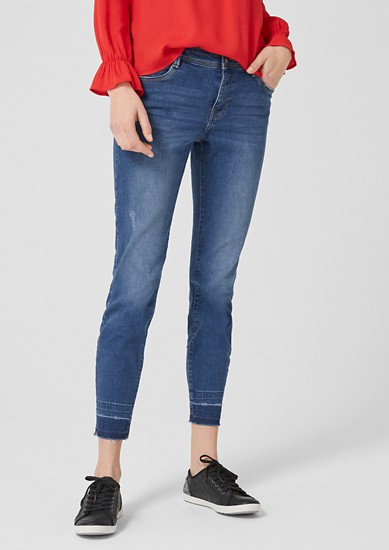 Shape Ankle: Jeans mit Used Details