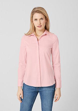 Elastische overhemdblouse