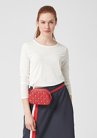 Long sleeve top with scalloped edges from s.Oliver