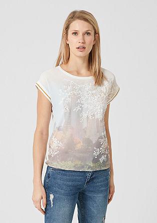 Blusenshirt mit Foto-Print