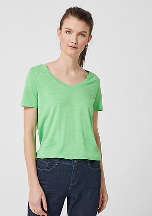 Shirt aus Flammgarn-Jersey