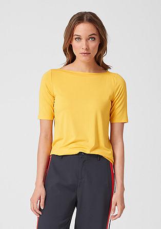 Žerzejové tričko slodičkovým výstřihem