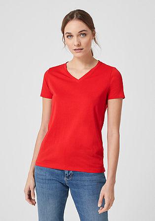 T-shirt à encolure en V de s.Oliver