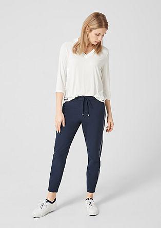 Jersey shirt met blouseachtige inzetten