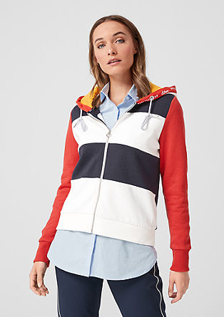 Hooded jacket with colour blocking from s.Oliver