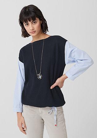 pletený pulovr shalenkovými detaily