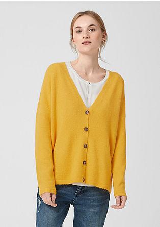 Gebreid vest met wol