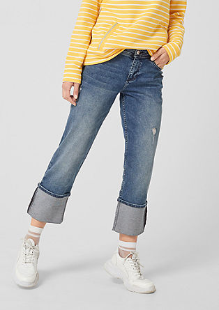 Shape ankle: jeans in used look