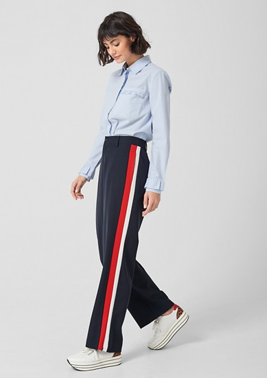 Athleisure trousers with a wide leg from s.Oliver