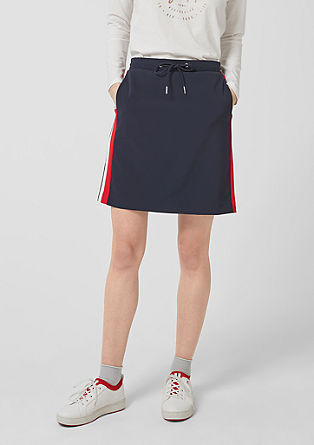 Short skirt in an athleisure look from s.Oliver