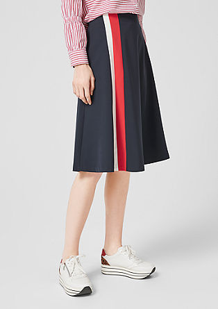 Midi skirt with stripes from s.Oliver