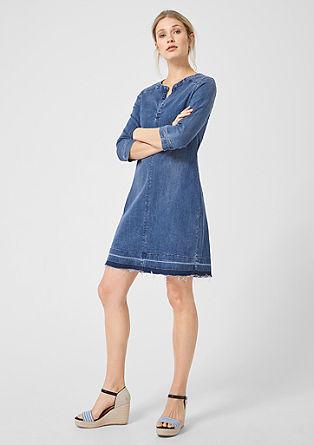 Casual jurk van lyocell-denim