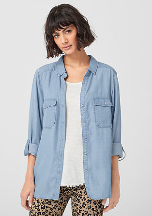 Fließende Twill-Bluse