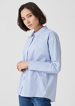 Gestreepte blouse met sierknopen