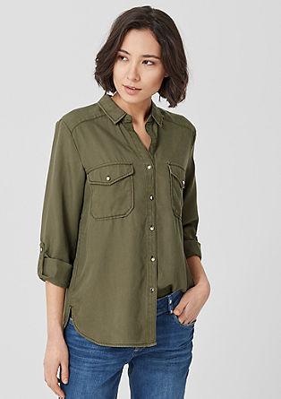 Luchtige twill blouse van lyocell
