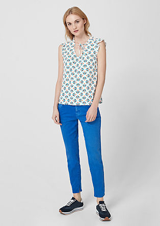 Patterned frilly blouse from s.Oliver