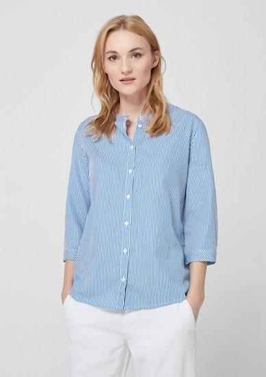 Gestreepte blouse met opstaande kraag