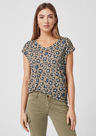 T-shirt met luipaardprint
