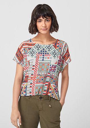 Majica s sprednjo stranjo v slogu bluze