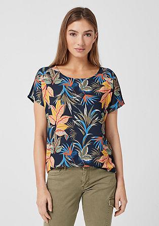 T-Shirt mit Blusenfront