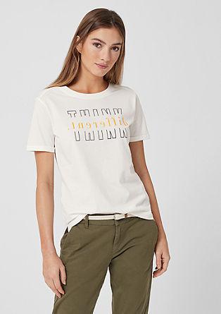 T-shirt met statement tekst