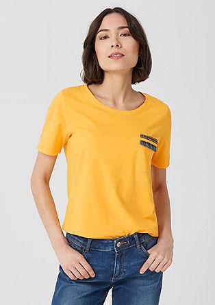 T-Shirt mit bestickter Brusttasche