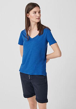 Shirt van slub jersey