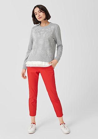 Besticktes Sweatshirt mit Layering