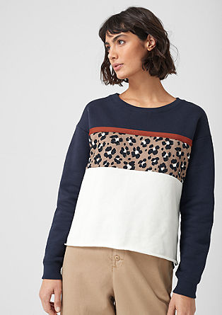 Sweat-shirt à motif colour blocking de s.Oliver