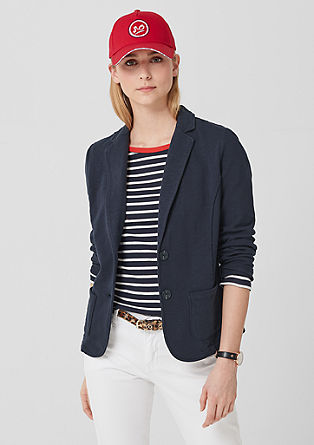 Textured sweatshirt blazer from s.Oliver
