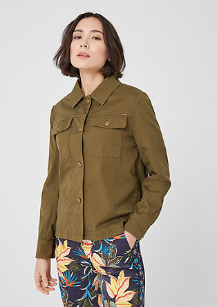 Twill jacket with an embroidered back from s.Oliver