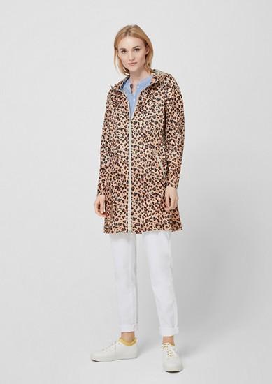 Ultra lightweight leopard parka from s.Oliver