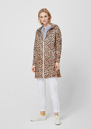 Ultra lightweight leopard parka from s.Oliver