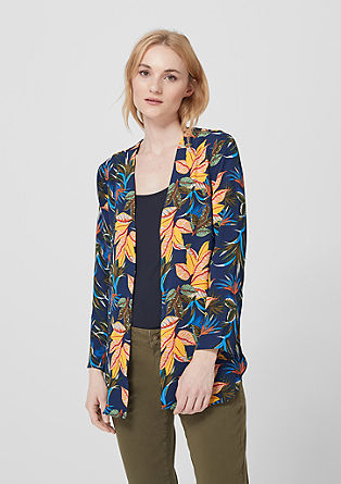 Blouseachtige blazer met all-over print