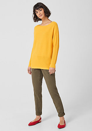 Batwing sleeve jumper with a mix of textures from s.Oliver